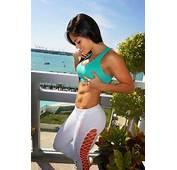 Michelle Lewin  Beach Workout Photo