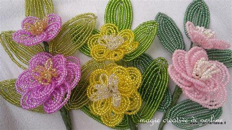 fiori con perline schemi gratis tutorial fiori di perline la camelia manifantasia