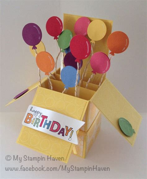 balloon pop up card template 106 best card in a box images on birthdays