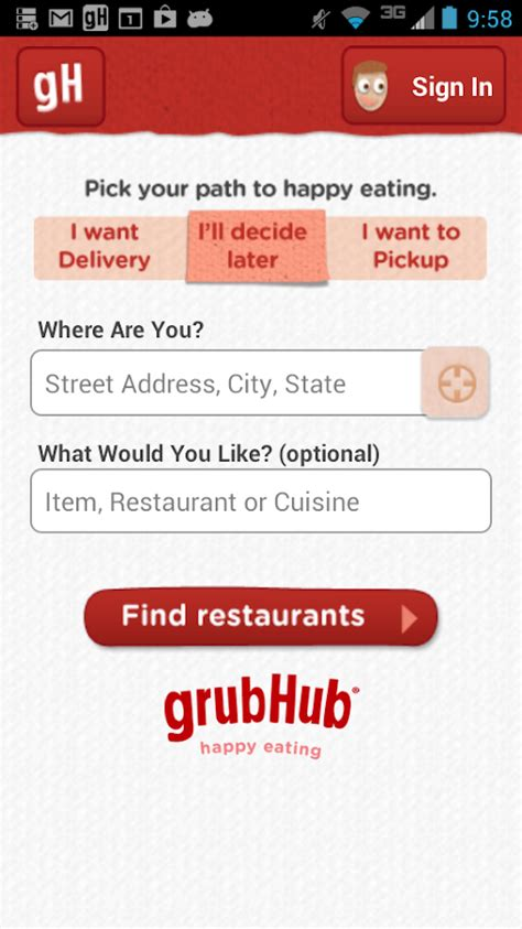 Grub Hub Gift Card - grubhub food delivery takeout android apps on google play