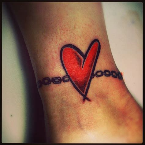 heart tattoos red red heart tattoo on ankle tattooshunt com
