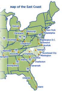 Map Of The East Coast United States by East Coast Introduction East Coast Tours Amp Travel