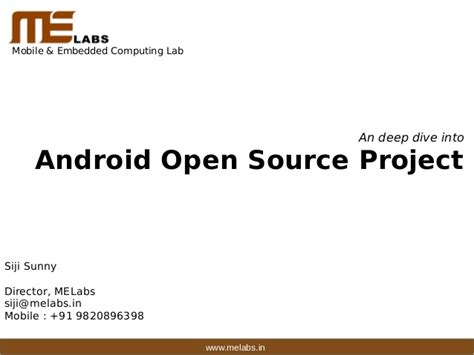 is android open source a dive into android opensource project aosp