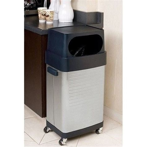 Large Kitchen Garbage Can by Commercial Rolling Trash Can Large 17 Gallon Garbage Bin