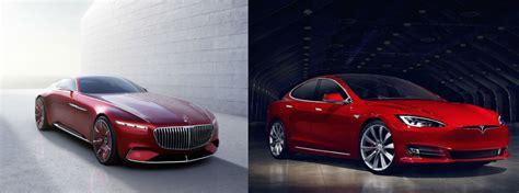Tesla And Mercedes Vision Mercedes Maybach 6 Vs Tesla Model S