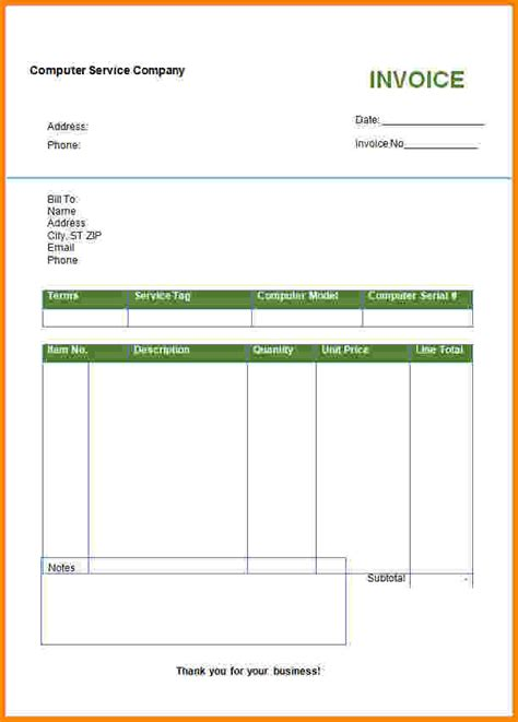100 invoices templates free free accounting