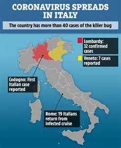 coronavirus kills   italy   towns put  lockdown