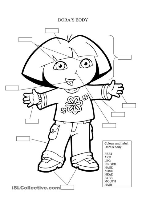 dora printable preschool activities 9 best a p coloring pages images on pinterest anatomy