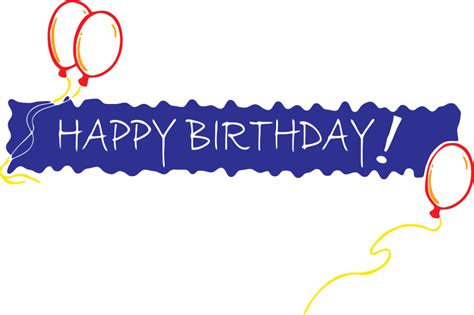 Happy Birthday Wishes Banners Happy Birthday Png Text Clipart Best