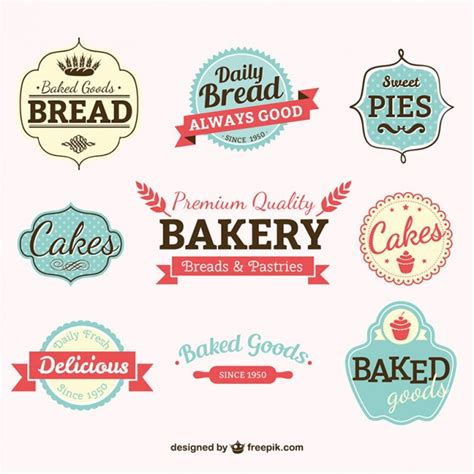 free bakery logo templates vintage bakery labels vector free