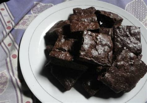 Kompor Sekalian Oven resep simple chewy fudgy brownies
