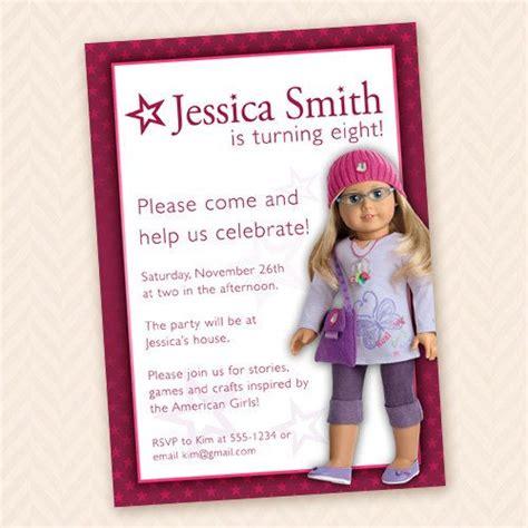 american birthday invitations american dolls birthday invitations free invitation templates drevio
