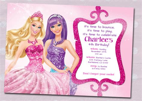 free printable birthday invitations barbie barbie birthday invitation sles invites pinterest