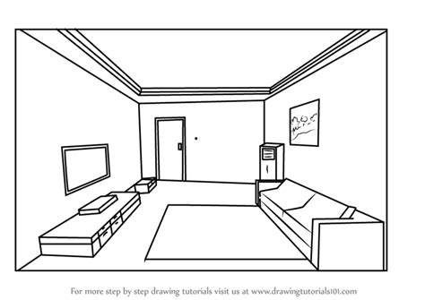 One Point Perspective Room Drawing Step By Step learn how to draw one point perspective room one point