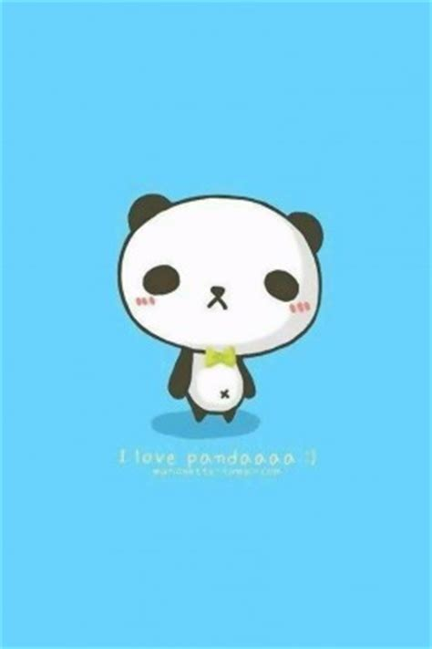blue black and wight panda 熊猫的图片动漫手机壁纸 动漫卡通 手机壁纸 主题之家下载站
