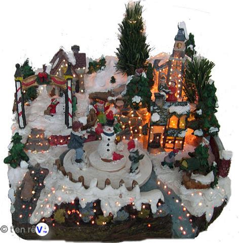 Superbe Decoration Village De Noel Miniature #2: village-miniature-bonhomme-de-neige.jpg