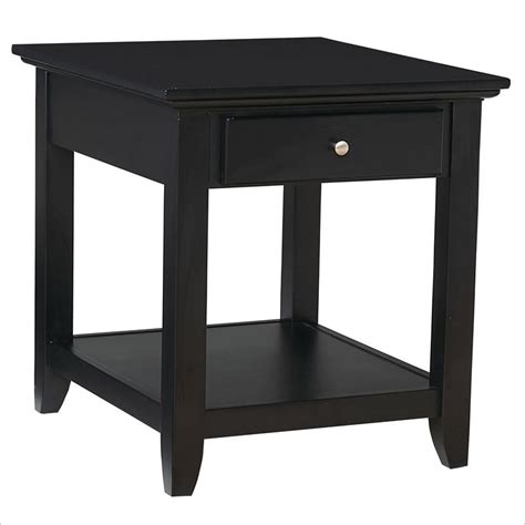 Black End Tables Home Styles Furniture Bedford Black End Table Ebay