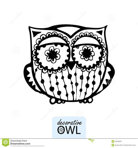 decorative owls decorative owl stock vector image 40948031