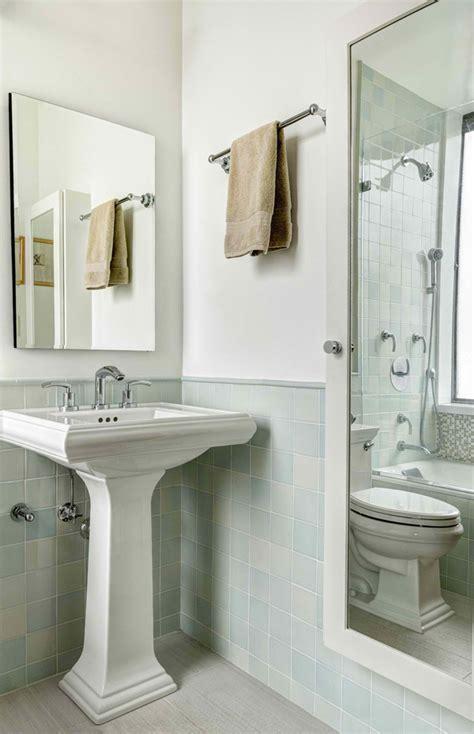 trendy photo of half bathroom designs 10 small bathroom design with corner pedestal sink and square