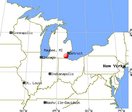 maybee, michigan (mi 48159) profile: population, maps