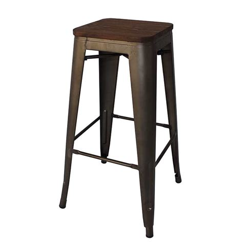 restaurant furniture bar stools tolix barstool with wood decofurn factory shop