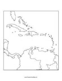 Us Islands Outline Map by Caribbean Blank Map