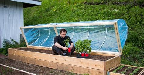 easy diy hinged hoophouse  raised bed home design