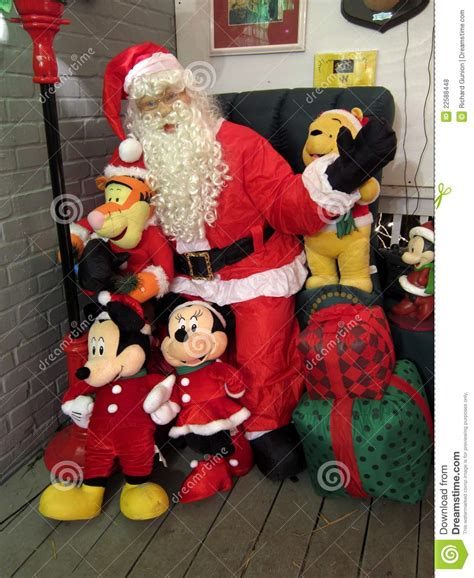 mickeyunlimited electric christmas decorations santa claus and mickey mouse editorial stock photo image 22588448