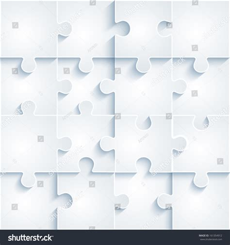 layout puzzle vector parts paper puzzles business concept template stock vector