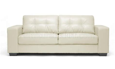 Ivory Leather Sofa Set Sofa Set In Ivory Bonded Leather By Wholesale Interiors