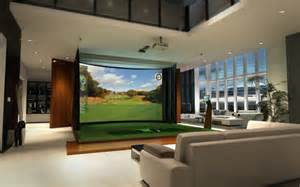 in home golf high def golf simulator doubles as home theater