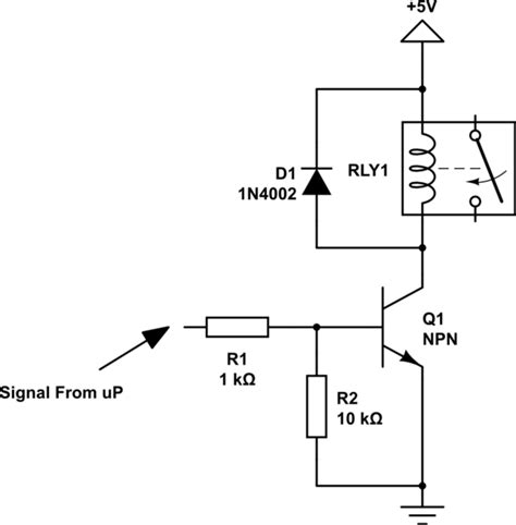 npn transistor for relay avr transistor to run relay electrical engineering stack exchange
