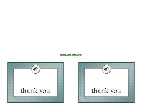 free thank you card templates in publisher graduation related office templates for ms office software