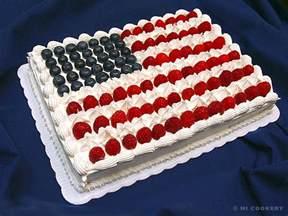amerikanischer kuchen american flag cake hi cookery