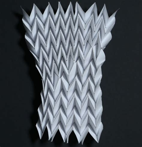 Pleat Fold Origami - origami mathematics in creasing