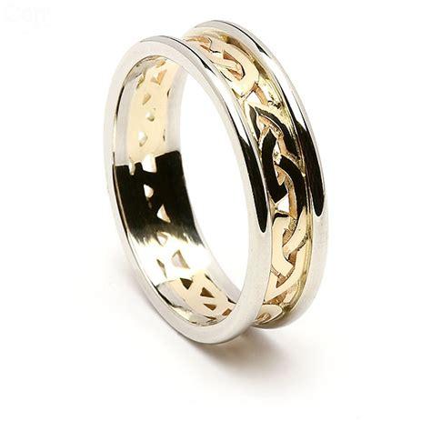 Eheringe Keltischer Knoten by Dicke Keltische Knoten Ehering 14k Gold Mit Wei 223 Gold Trim