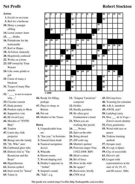 free printable crossword puzzles newspaper printable crossword puzzles printable pages