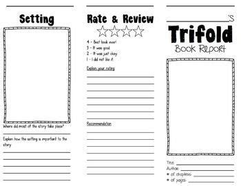 tri fold book report trifold book report rubrics students and character trait