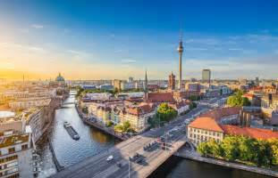 Uk Wall Murals berlin skyline blue colours wall murals wonder wall