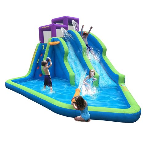 inflatable backyard water park waterslides at outdoor realm