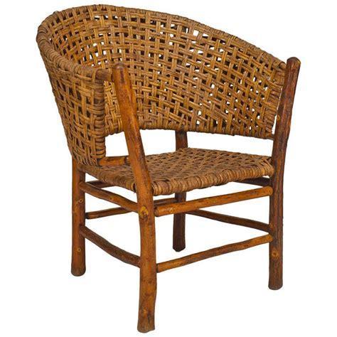 large hickory barrel back armchair for sale at 1stdibs