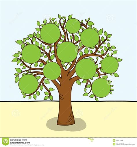 Family Tree Vector Stock Vector Illustration Of Blank 25541964 Stock Vector Family Tree Template With Portraits Of Relatives And Place For Text On Green