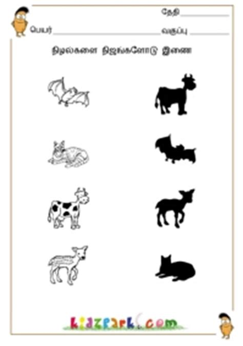Printable Worksheets For Jr Kg | tamil shadow fun worksheets junior k g worksheets