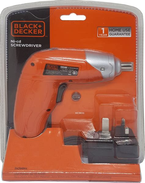 Black Decker Kc3610 3 6v Ni Cd Cordless Screwdriver black and decker 3 6v ni cd screwdriver kc3610 cordless drills impact drivers wrenches