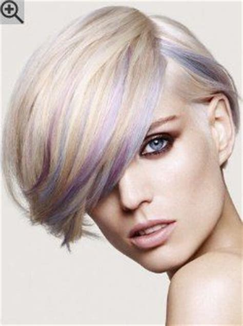 hairstyle covering one eye crossword light blonde hair with pastel streaks an ear length