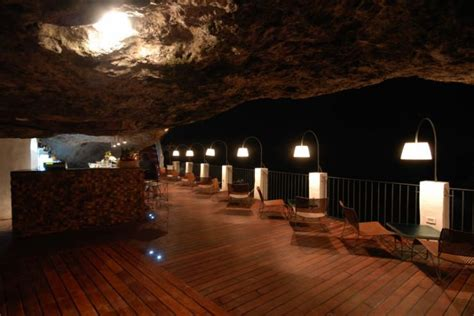 cave restaurant side of a cliff italy the seaside restaurant inside a cave in italy places to