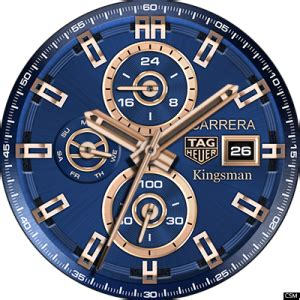 Free Download Custom Watch Face Tag Heuer carrera Kingsman   Free Watch Faces