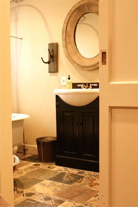 annie sloan bathroom black washstand with white porcelain sink cottage