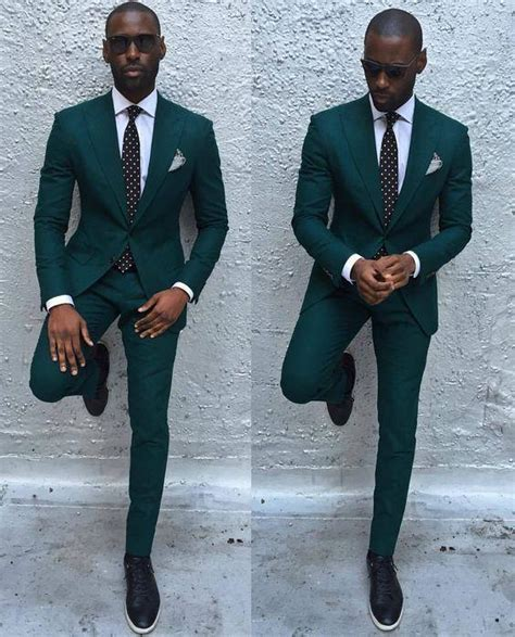 New Arrival Dark Green Mens Dinner Party Prom Suits Groom