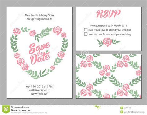 wedding invitation card suite with flower templates free wedding invitation card suite with flower stock